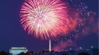 A fireworks display over Washington D.C. (4th of July)