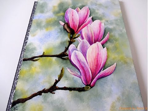Watercolor Magnolia Painting Tutorial