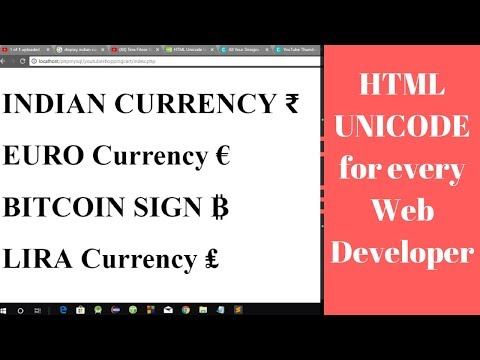 Programming Tip Of The Day #22 : Display Indian Currency Symbol ₹​ Using HTML | All Currency Symbol