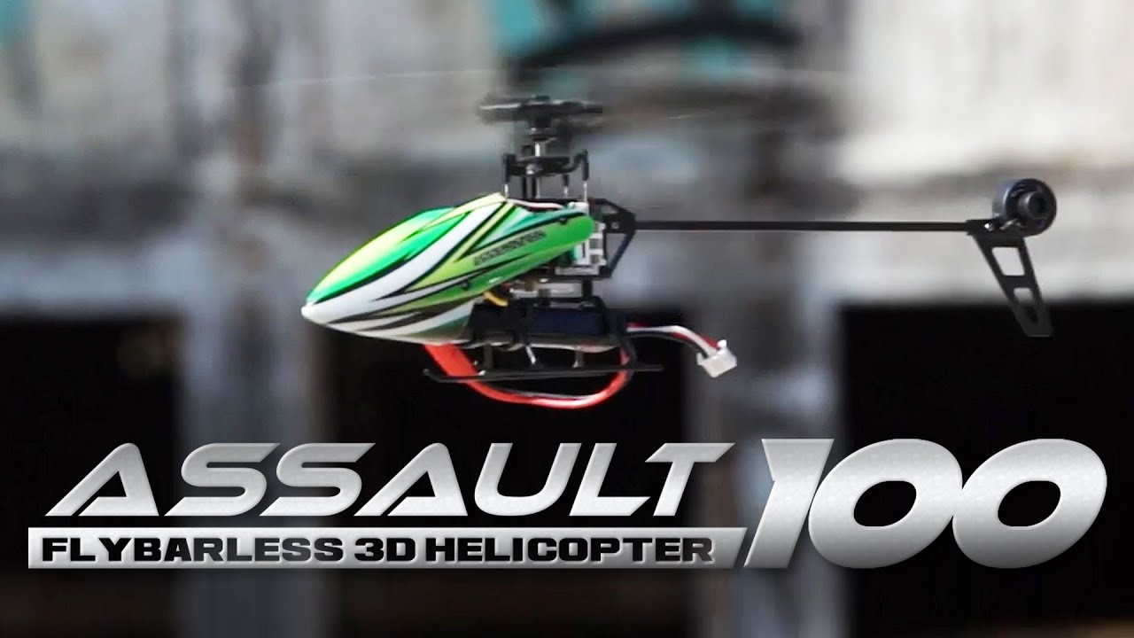 Assault 100 Flybarless Dual Brushless Micro 3D Helicopter w