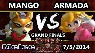 KoC 4 - C9 Mango (Fox) Vs. P4K EMP | Armada (Peach) SSBM Grand Finals - Melee