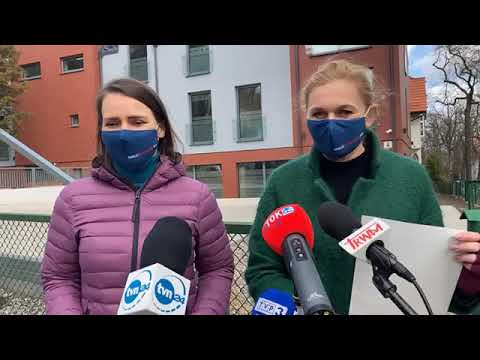 Konferencja Koalicji Obywatelskiej: Agnieszka Pomaska, Barbara Nowacka - 7 kwietnia 2021 r.