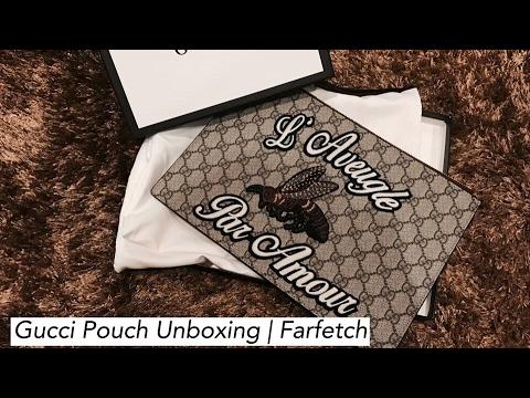 83cbab69e514 Gucci Pouch Unboxing | Farfetch - YouTube