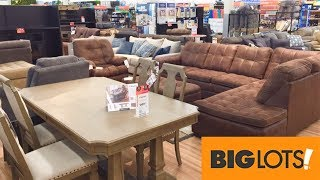 Big Lots Furniture Sofas Couches Armchairs Chairs Tables Shop With Me Shopping Store Walk Through