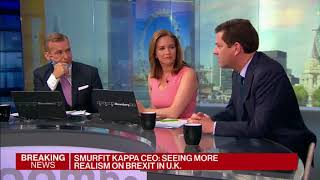 Tony Smurfit, CEO Smurfit Kappa talks to Bloomberg on Brexit and the latest Company peformance