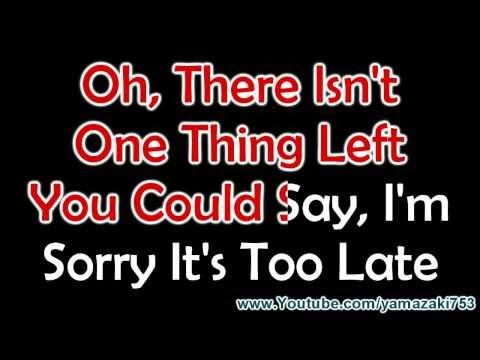 Avril Lavigne ft. Chad Kroeger - Let Me Go - Karaoke