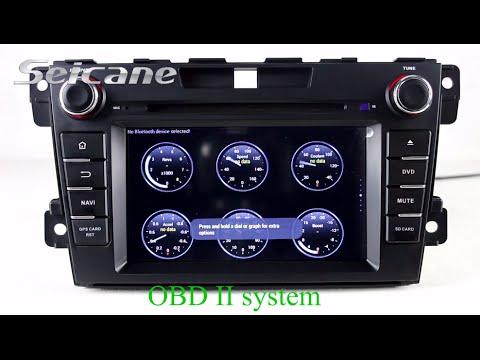 2010 2011 2012 Mazda CX-7 Double DIN radio android head ...
