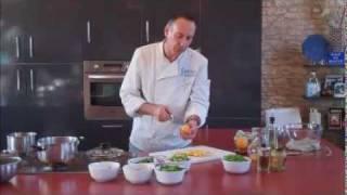 Summer Vegetable Salad With An Orange, Grain Mustard & Walnut Oil Vinaigrette