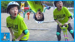 말이야 병사들 하늘 날기 도전하다! 웃긴 스카이콩콩 ♡ 랑스 밸런스 호핑 장난감 놀이 Rangs Balance Hopping toys | 말이야와친구들 MariAndFriends