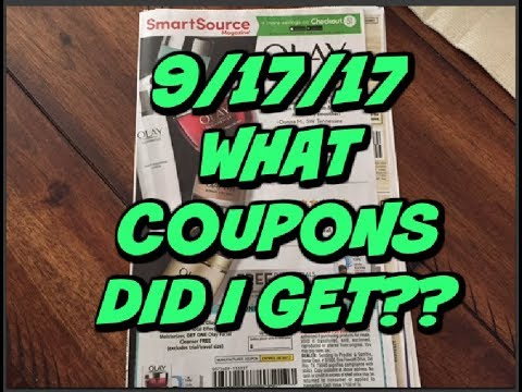 WHAT COUPONS DID I GET??? | 9/17/17 SMARTSOURCE PREVIEW