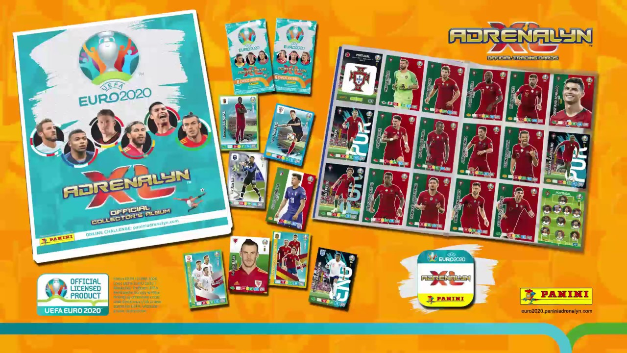 PANINI UEFA EURO 2020 Logo fans de AVF capitaines ligne UPS Wonder Kid cartes