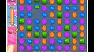 Candy Crush Saga Level 185 - 3 Stars No Boosters