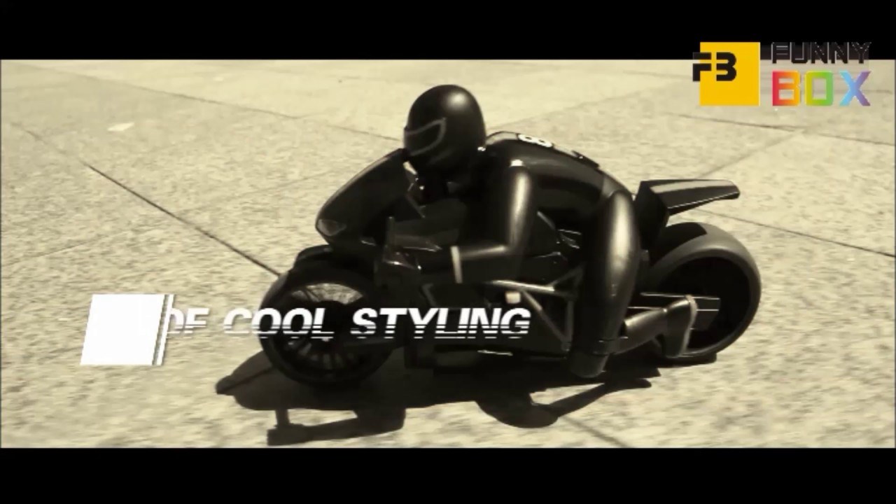 funny motorcycle r  Funny Box R/C Flash Motorcycle - YouTube