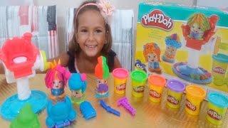 Play doh KUAFÖR SALONU kutusu açtık, Çok eğlenceli oyuncak, Eğlenceli çocuk videosu , unboxing