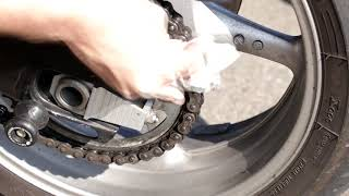 Motorcycle Cleaning Hacks - Chain Cleaning With THUNDERBOLT By UNLIMITED PASSION