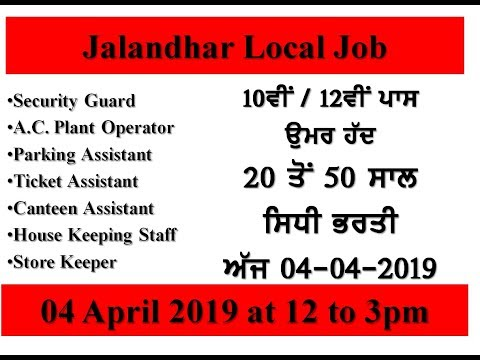 Recruitments News Jalandhar Local jobs by Mehra Videos