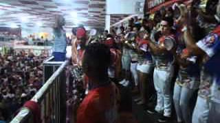 Bateria da União do Parque Curicica no Estrela do Carnaval 2014