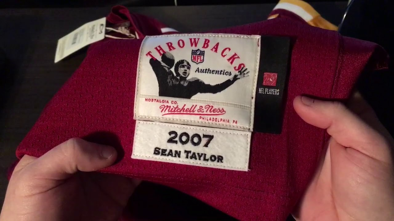 buy popular dc4c6 6526f Sean Taylor Mitchell and ness jersey
