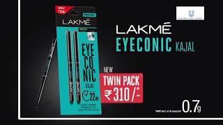 Lakmé Eyeconic Kajal Twin Pack - Hindi