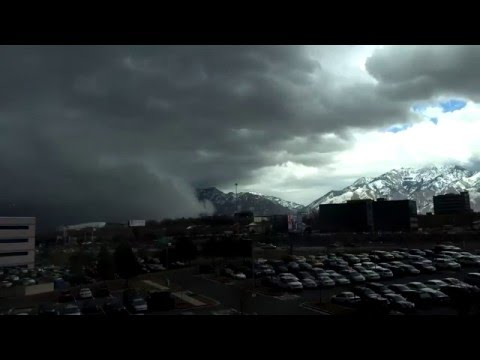 Strong Cold Front Powering Through Salt Lake Valley