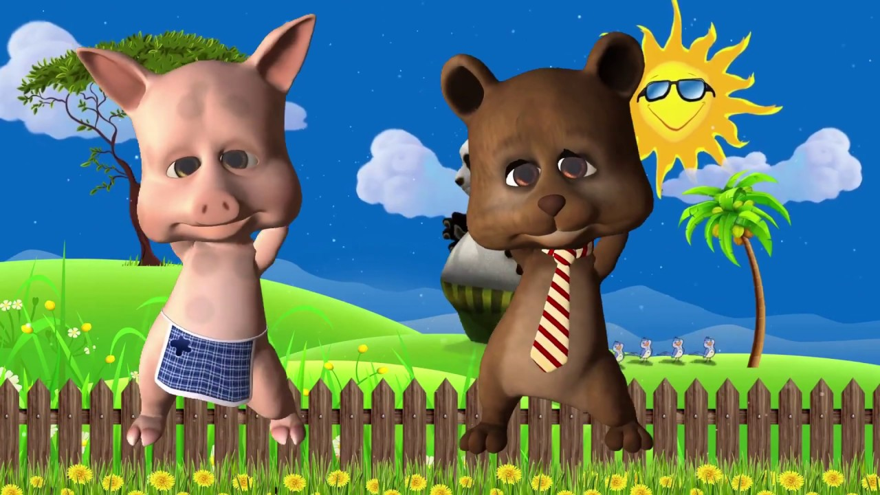 Dancing Pig and baby Bear | top dance 2020 | Kids songs | Preschool videos for children