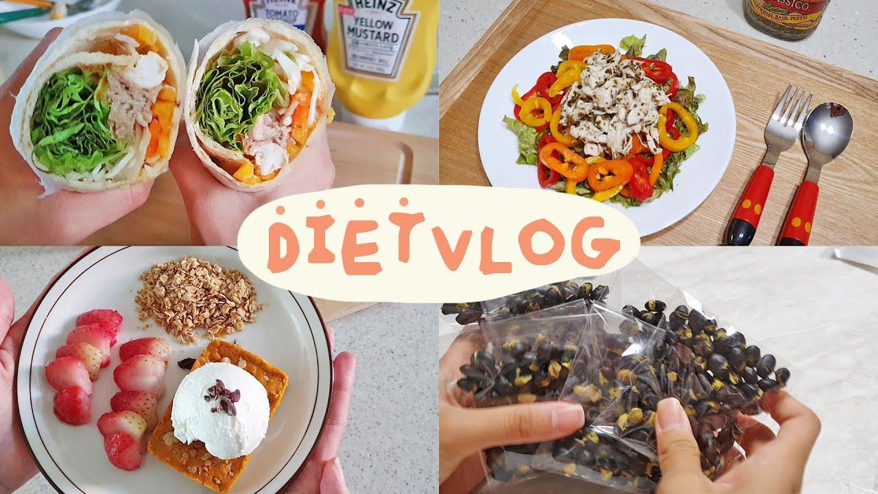 [Eng sub, DIET VLOG] 다이어트 식단 모음, 49kg 유지하는 건강한 식단, 그래놀라 추천, 다이어트 또띠아, 다이어트 샐러드, 꾸준한 다이어트, 직장인 다이어트
