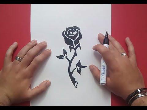 Como dibujar una rosa paso a paso 9 how to draw a rose 9 - Como secar una rosa ...
