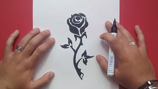 Como dibujar una rosa paso a paso 9 | How to draw a rose 9