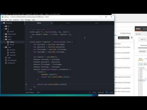 Simple login using Mongoose / MongoDB - Node.js Tutorial 17