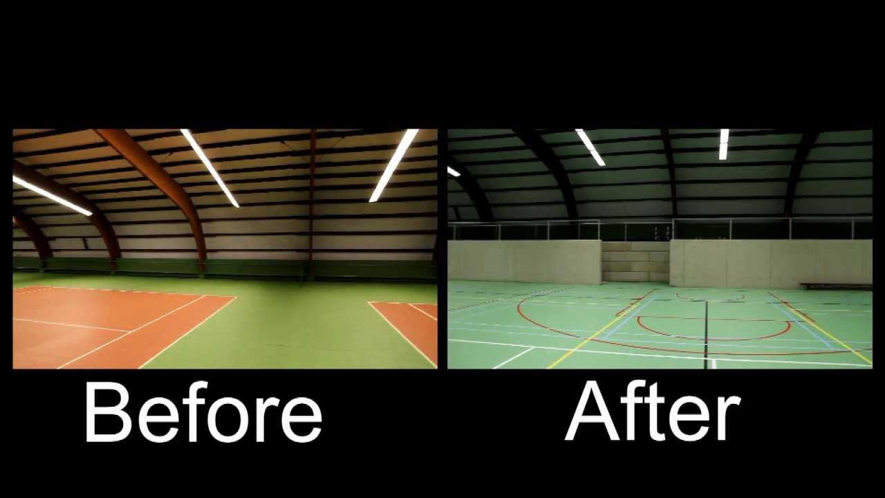 Health & Racket Club Venlo verlichting sporthal aangepast door Less ...