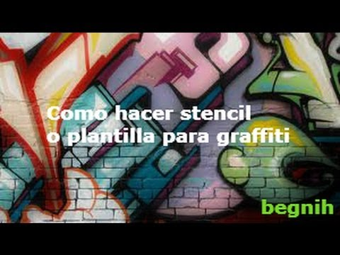 Como hacer stencil o plantilla para graffiti youtube for Como construir estanques para peces