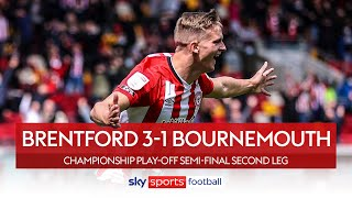 Bees comeback against 10-man Cherries | Brentford 3-1 Bournemouth | Championship Play-Off Highlights