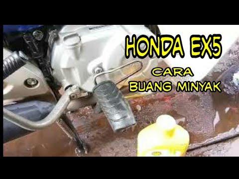 Cara buang minyak dan isi minyak motor HONDA EX5