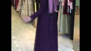 Pınar Şems Yezra Elbise - Mor - www.modavitrini.com