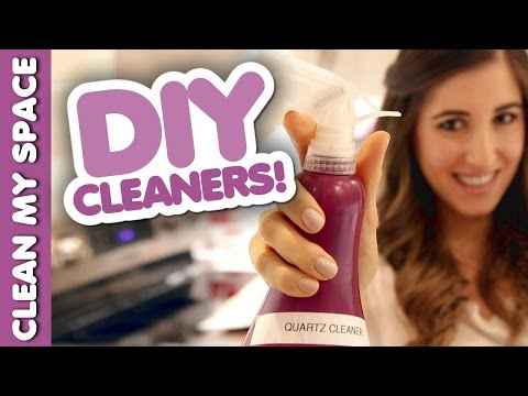 5 DIY Cleaners! Homemade Cleaning Products! (Clean My Space)