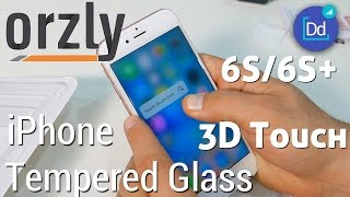 iPhone 6S/6S Plus Tempered Glass w/ 3D Touch by Orzly in 4K