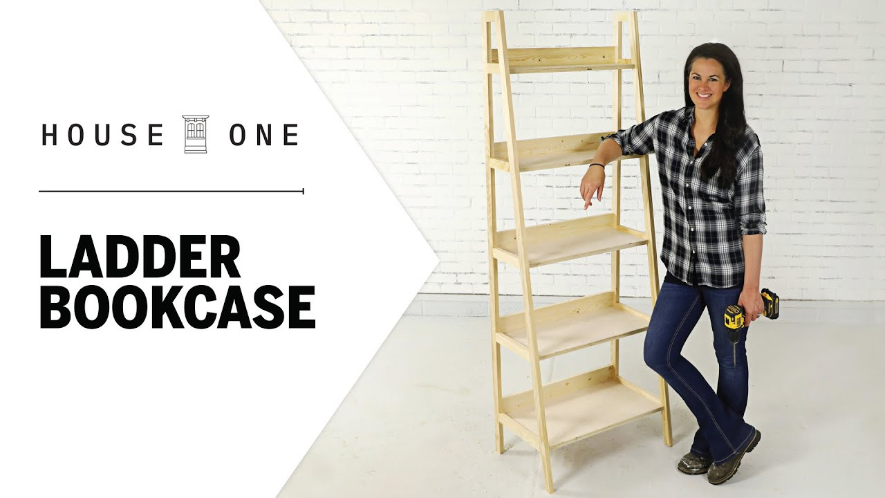 How To Build A Leaning Ladder Bookcase House One Youtube