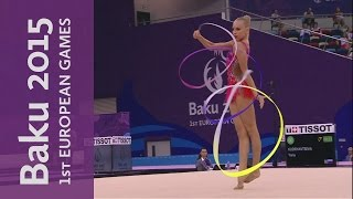 Yana Kudryavtseva wins the Individual Ribbon and her 4th Gold | Rhythmic Gymnastics | Baku 2015
