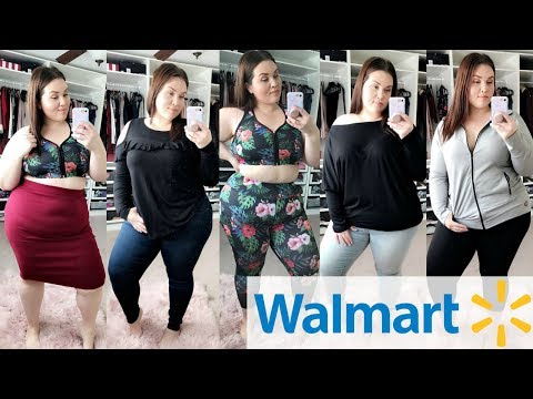 WALMART Try On Haul! 6 Outfits for $130!  Plus Size Fashion 