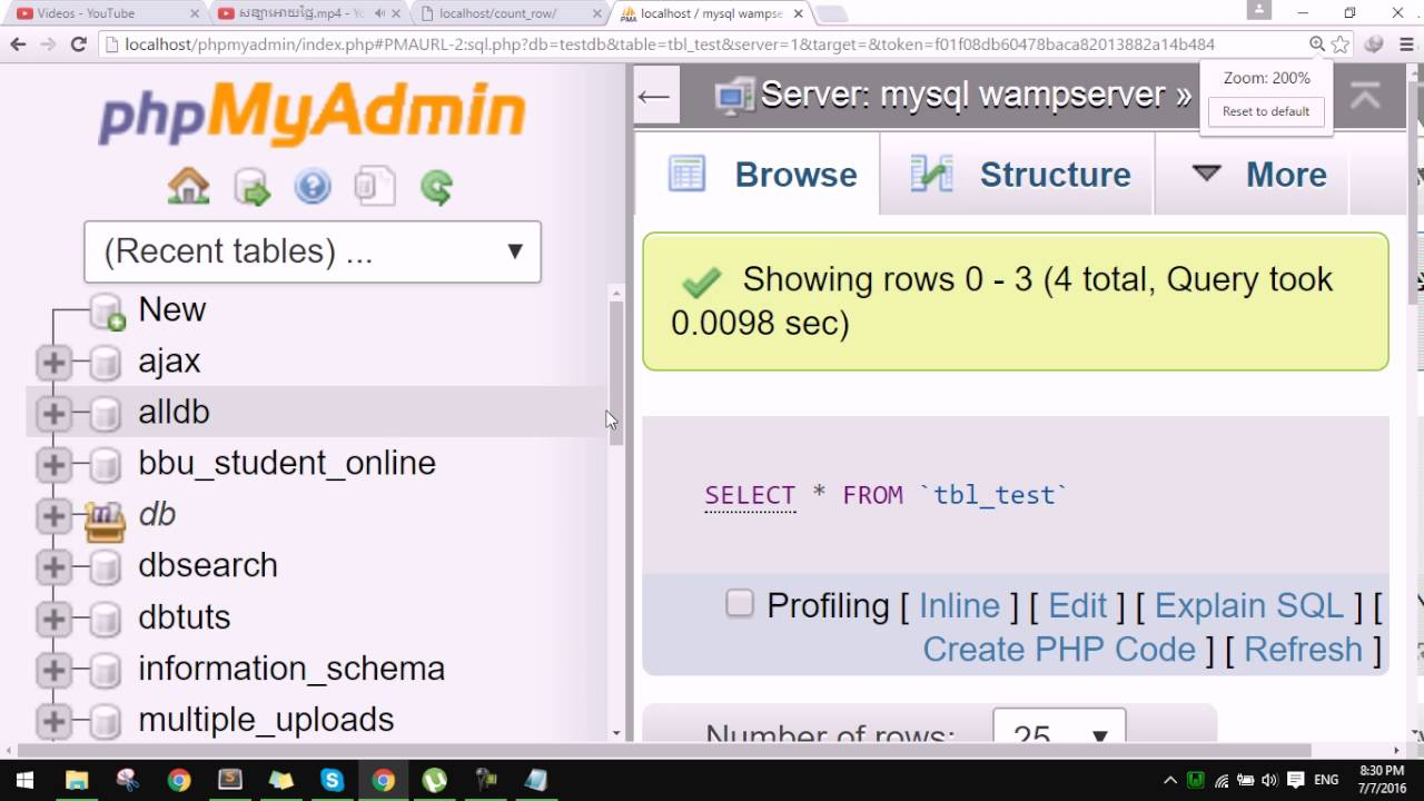 How to count row in database using php with mysqli youtube how to count row in database using php with mysqli gamestrikefo Gallery