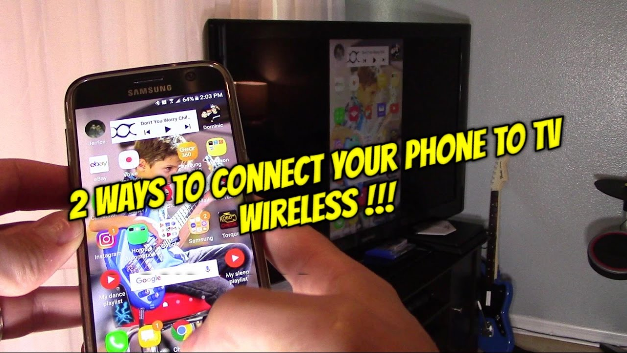 2 ways how to connect android phones tablets to tv wireless 2 ways how to connect android phones tablets to tv wireless greentooth Images