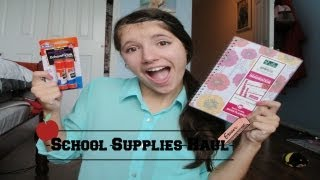 Back-to-school: School Supplies Haul!