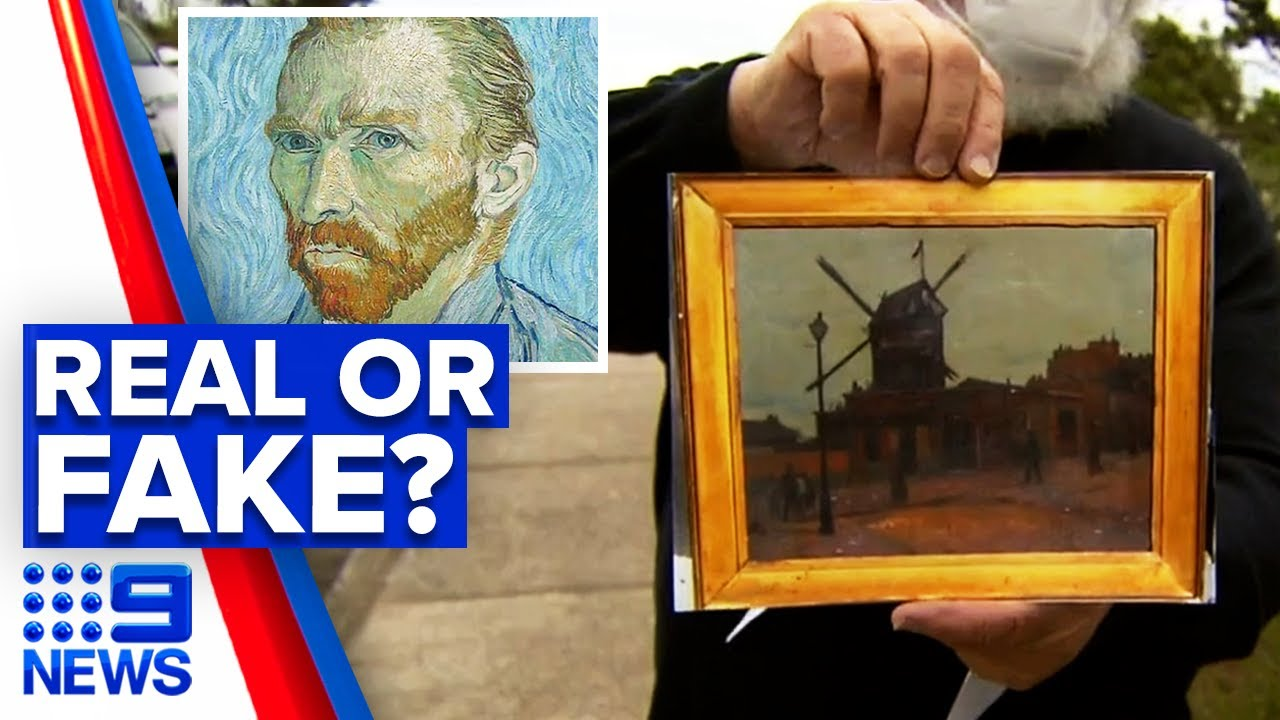 Possible Authentic Van Gogh Picked Up At Market 9 News Australia Youtube