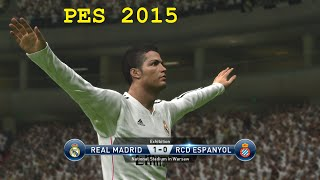 PES 2015 Gameplay - Real Madrid vs Espanyol HD (PC PS4)