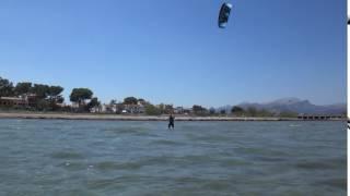 danish girl kite student www edmkpollensa com kitesurfing lessons mallorca in April
