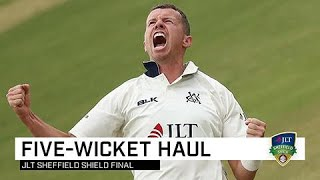 Siddle blows open Shield final with five