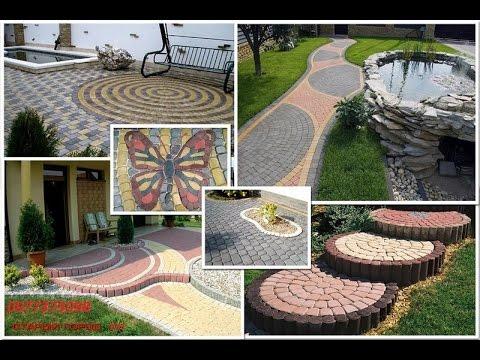 """Тротуарная плитка """"Старый город"""". Схемы укладки, самое необычное сочетание цветов."""