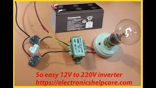 how to make inverter 12v to 220v step by step? how to make ips? mini ips, electronics