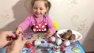 Киндер Сюрприз видео, распаковка сюрпризов с игрушкой m2ts