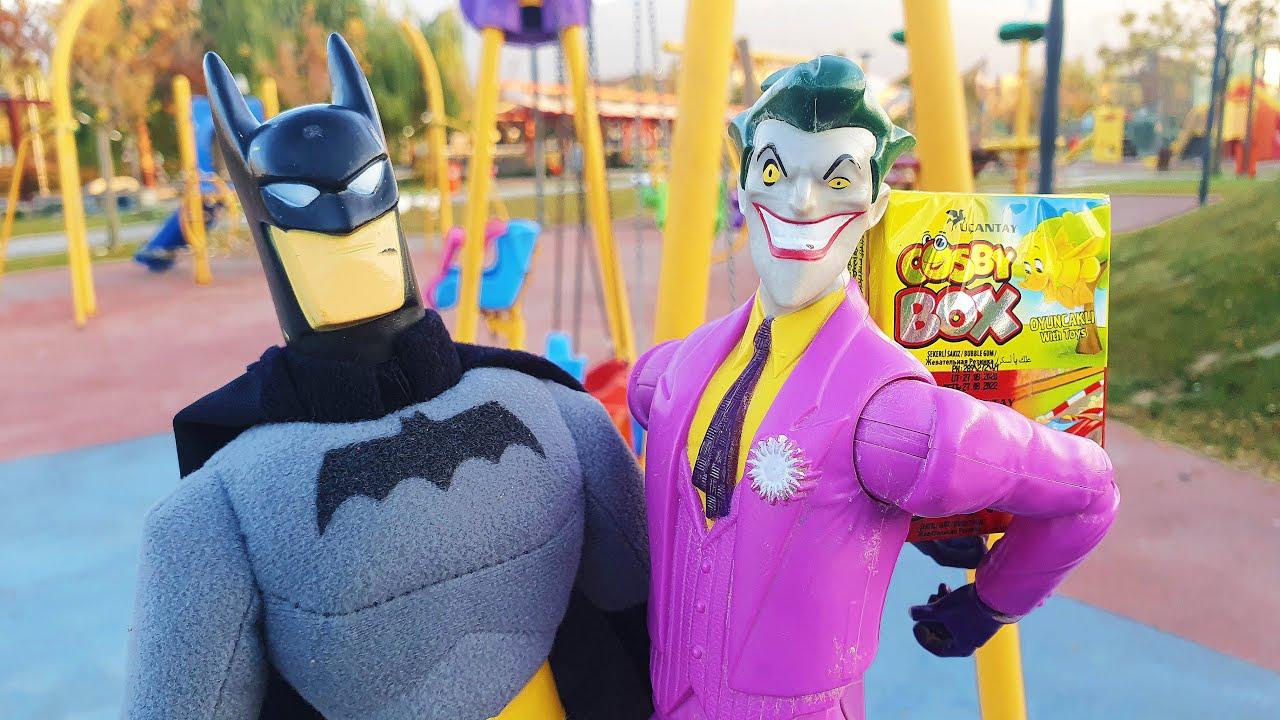 Joker Parkta Cosby Box Kaçırıyor Batman Ördek Kovaladı